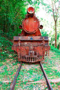 Front view of the old train Royalty Free Stock Photo