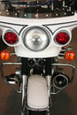 Front view of a police motorcycle Stock Images