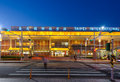 Front view of songshan airport at night Royalty Free Stock Photo