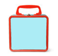Front view of tin lunch box Royalty Free Stock Photo