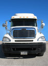 Front View of Tractor Trailer Stock Photos