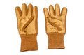 Front view of work gloves on pure white background Stock Image