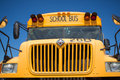 Front of a vintage yellow school truck Royalty Free Stock Photo