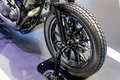Front wheel of motorcycle Royalty Free Stock Photo
