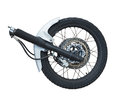The front wheel of a motorcycle Royalty Free Stock Photo