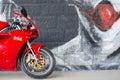 Front wheel of Sport Ducati Motorcycle