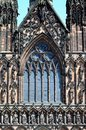 Front window of cathedral lichfield england view the staffordshire western europe Stock Image