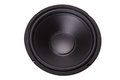 Front of woofer on white Stock Photo