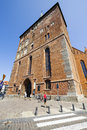 Frontage of the basilica in kolobrzeg poland july assumption blessed virgin mary roman catholic temple built Royalty Free Stock Images