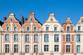 Frontage of nice houses Royalty Free Stock Photography