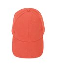Frontal red baseball cap on white background Royalty Free Stock Image
