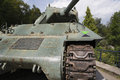 Frontal view of the tank destroyer northampton in ardennes in belgium Stock Photo