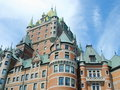 Frontenac Castle, Quebec, Canada. Royalty Free Stock Images