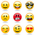 Fronti del Emoticon Immagine Stock