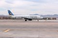 Frontier airlines las vegas usa april airbus a of at las vegas mccarran international airport carried almost million Stock Photos