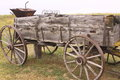 Frontier wagon on an early south dakota homestead Royalty Free Stock Photography