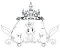 Frosch prinz cartoon character Lizenzfreie Stockbilder