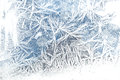 Frost on glass ice texture frosty pattern the window Stock Images