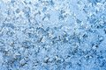 Frost pattern beautiful of on winter window Royalty Free Stock Images
