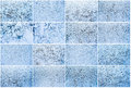 Frost pattern beautiful of on winter window Stock Image