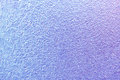 Frost patterns on window glass in winter. Frosted Glass Texture. Blue and purple Royalty Free Stock Photo