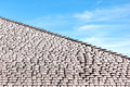 Frost on shingled roof Royalty Free Stock Photo