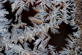 Frost on the window close up of in winter Royalty Free Stock Image