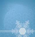 Frosted glass background with snowflakes christmas decorated Royalty Free Stock Photo