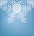 Frosted glass background with snowflakes christmas decorated Royalty Free Stock Photos