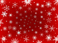 Frosted Snow Border - Red Stock Image