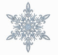 Frosted snowflake decorative on white background Royalty Free Stock Images