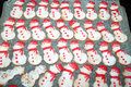 Frosty cookies snowmen biscuits for christmas celebrations Stock Image