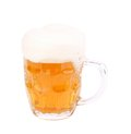 Frosty glass of light beer with clipping path see my other works in portfolio Stock Images