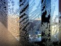 Frosty patterns photos of beautiful frost pattern on a window glass Royalty Free Stock Photos