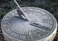 Frosty Sundial Stock Image