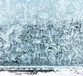 Frosty window ice pattern beautiful crystal background Royalty Free Stock Images