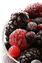Frozen berries close-up Royalty Free Stock Photos