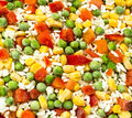 Frozen blend small vegetable close up Royalty Free Stock Photography