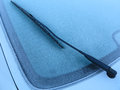 Frozen car window rear of a automobile a danish november morning Royalty Free Stock Photography
