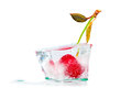Frozen cherry cocktail Royalty Free Stock Photo