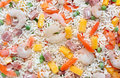 Frozen chinese fried rice background Stock Images