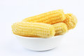 Frozen Corn on Cob Royalty Free Stock Images