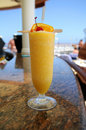 Frozen Daiquiri on a Cruise Ship Bar Royalty Free Stock Photo