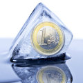 Frozen euro currency Stock Image