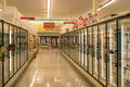 Frozen Foods Aisle Stock Photos