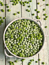 Frozen green peas Royalty Free Stock Photo