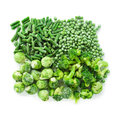 Frozen green vegetables Royalty Free Stock Photo