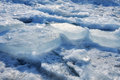 Frozen ice blocks in lake ontario Royalty Free Stock Image