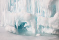Frozen lake inside ice cave Royalty Free Stock Photo