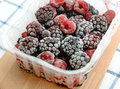 Frozen mixed berries close up. Royalty Free Stock Photo